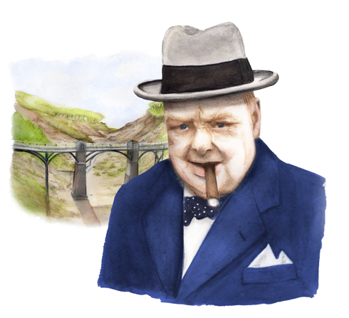 In 1892, the young Winston had a near-fatal fall from a bridge, but in which Chine was it?