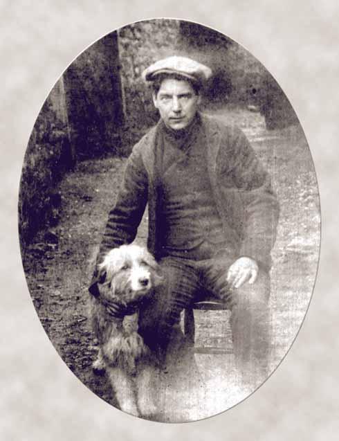 John Cowan in civvies with Lassie