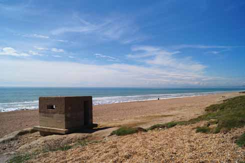 There are plenty of pill-box photo opportunities along the walk, as well as the usual scenic views