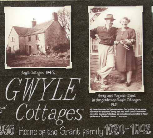 Gwyle Cottages where David was stationed, which he described as 'charming' and 'with beautiful furniture'