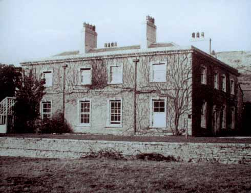 The Rectory, Tyneham, in 1941 when it had 'improved on further inspection'. That is sadly not so now (below) that it is derelict .