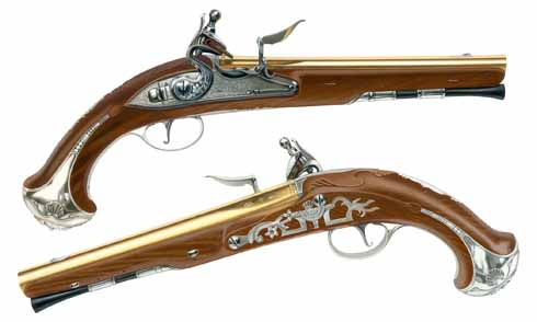 A pair of antique pistols. This is not, repeat NOT, a photograph!
