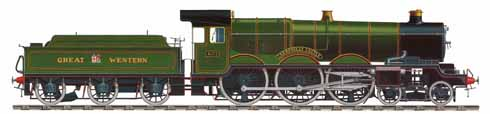 John's illustration of the 4-6-0 'Castle' class steam locomotive Caerphilly Castle built in 1923 and run until 1960 when it was handed over to the Science Museum. She now stands in the Swindon Steam Railway Museum