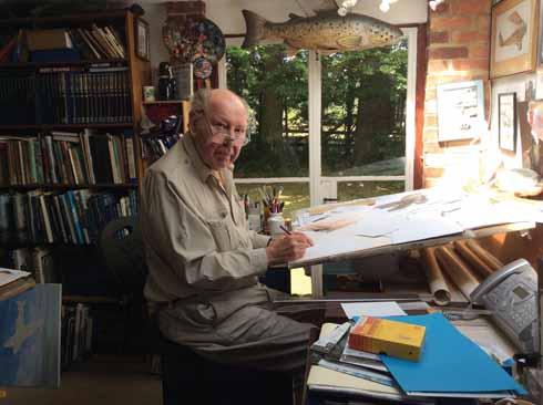 John in his studio at home