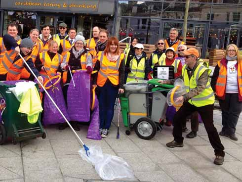 Dorset Devils and Bennett's Community Crew at Clean for the Queen