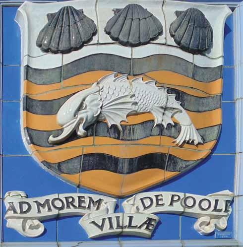 The Poole coat of arms on Poole Bridge