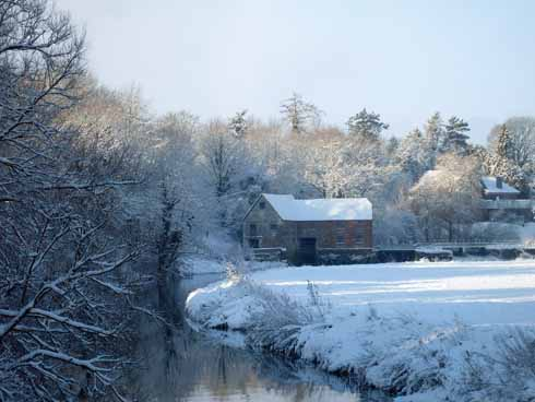 Sturminster Newton Mill in the February snow a few years ago