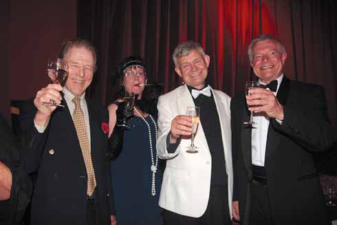 From left Edward Fox, Laura Lockwood, Rex chairman David Evans and John Lockwood, CEO Viridor Environmental Credits, at the gala opening of the refurbished Rex