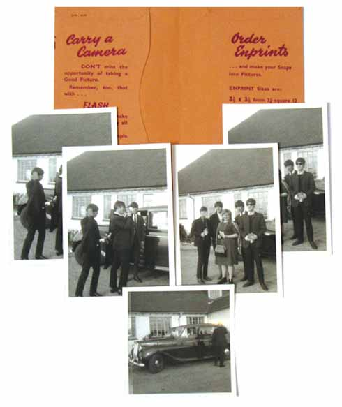 The pictures sold by Dukes Auctioneers of The Beatles  visiting Askers Road House, including a couple of shots  with Mrs Robins who, at the time of the picture, owned it with her husband