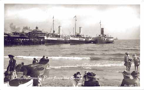 The Balmoral, Bournemouth Queen and Stirling Castle all moored to Bournemouth pier