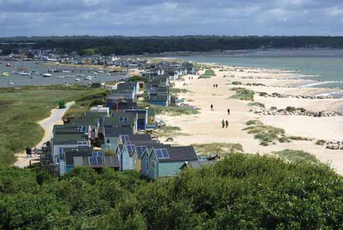 Looking down from Hengistbury Head towards Mudeford proper