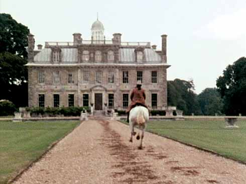 Sir John Grebe arrives at the house of Lord Uplandtowers, 'Knollingwood House', which was Hardy's name for Wimborne St Giles House, but in the televison adaptation of 'Barbara of the House of Grebe' it is Kingston Lacy