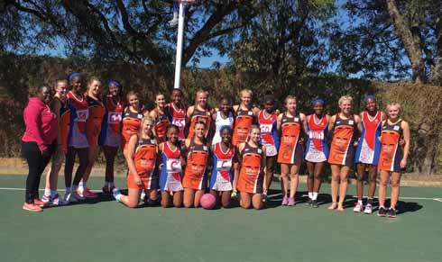 Team sports: part of Corfe Hills School's three-week South Africa tour in summer 2016