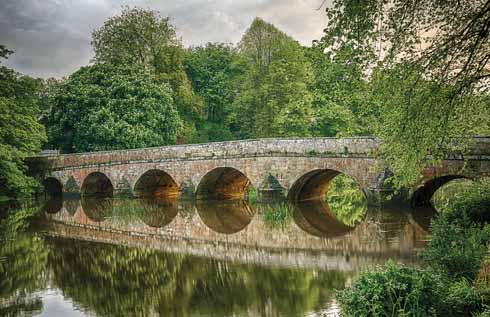 A more serene Stour at the Bryanston bridge in Blandford
