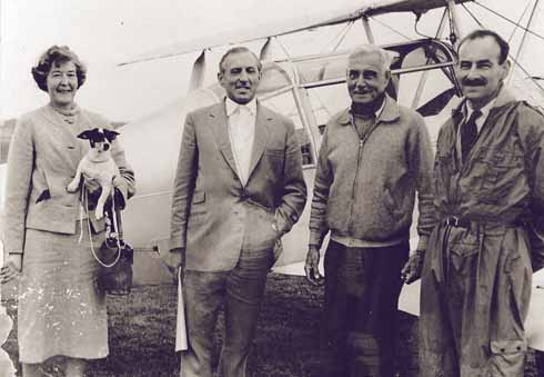 Louis Strange (second right) and Joy Watts (left), with whom he lived during the last few years of his life