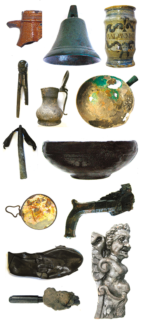 Just some of the finds that have been brought up from the Swash Channel Wreck