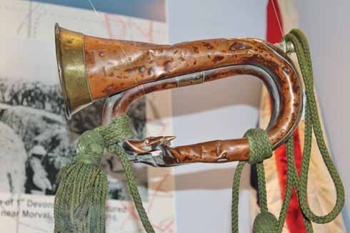 The bugle that may well have saved the life of Drummer Starn