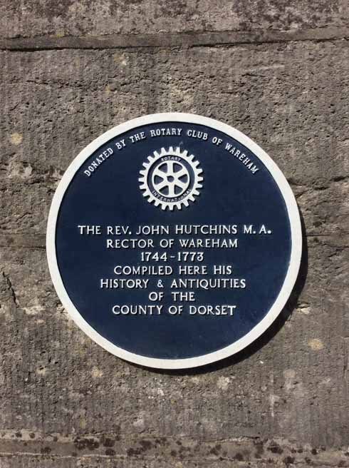 The plaque outside the Rectory commemorating Hutchins
