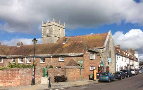 Holy Trinity Church in Wareham, where Hutchins was the priest, ceased to be used as a church after the fire of 1762. It is now a community café.