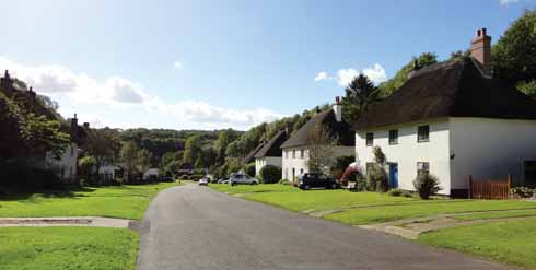 Joseph Damer's model village replacement for Middleton: Milton Abbas