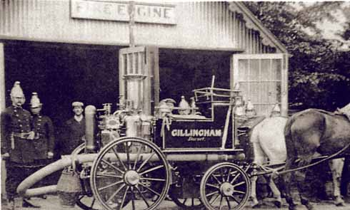 A pair of horses were still required to move the town's steam-powered pump