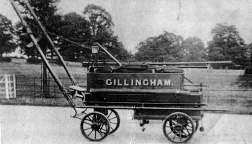 Gillingham's second fire enire, or more correclty pump, still relied on horse power for moving around and manpower for operating the see-saw pump