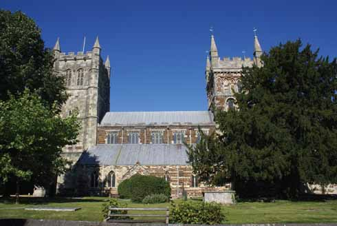 One of the town's 'Crown Jewels' the Minster from which Wimborne gets its full and correct name