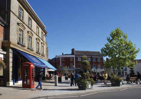 The relatively recently refurbished Square brings a more Mediterranean feel to the town's centre