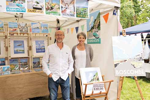 Richard and Judi, selling his images at the Shake and Stir Vintage fair