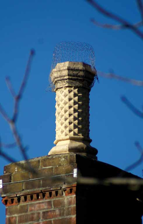 There are some lovely details on view, like this ornate chimney pot