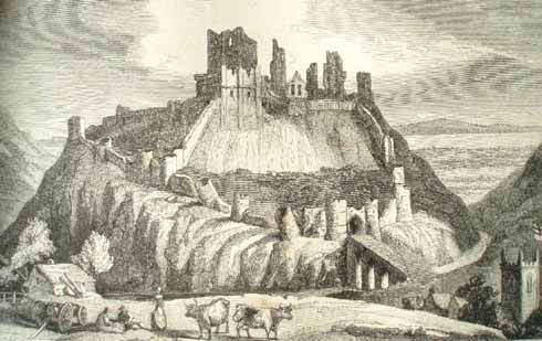 Corfe Castle, 1660 – courtesy of Poole Museum