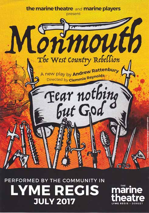 Coming this summer – Monmouth: The West Country Rebellion, a community play for Lyme Regis directed by Clemmie Reynolds