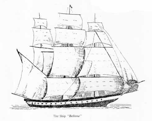 A sketch of the supply ship Bellona