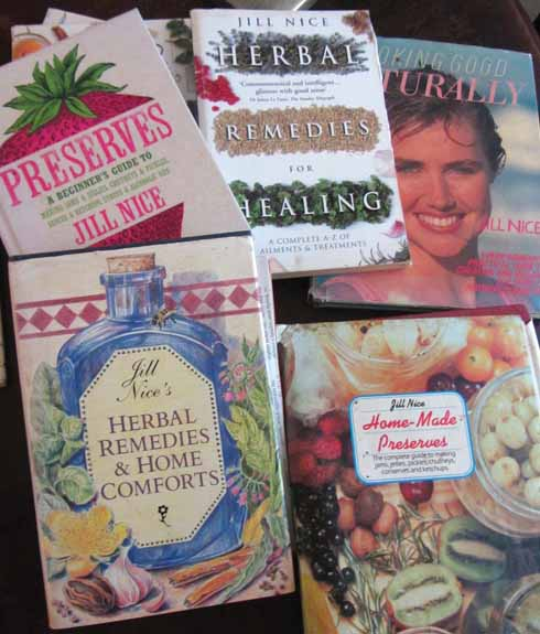 A selection of the books Jill has written over the years