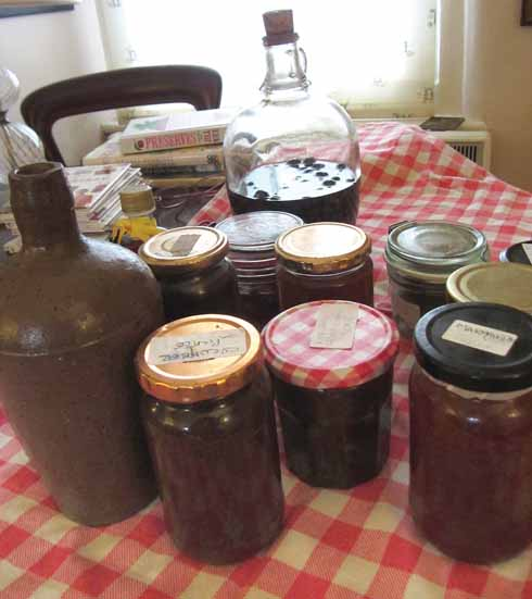 A small selection of Jill's pickles and preserves
