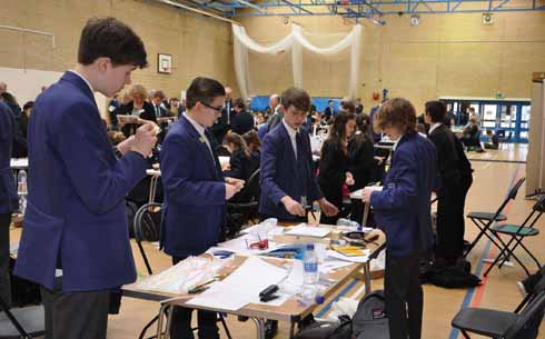 Bournemouth Collegiate school hall becomes a hive of industry for the day