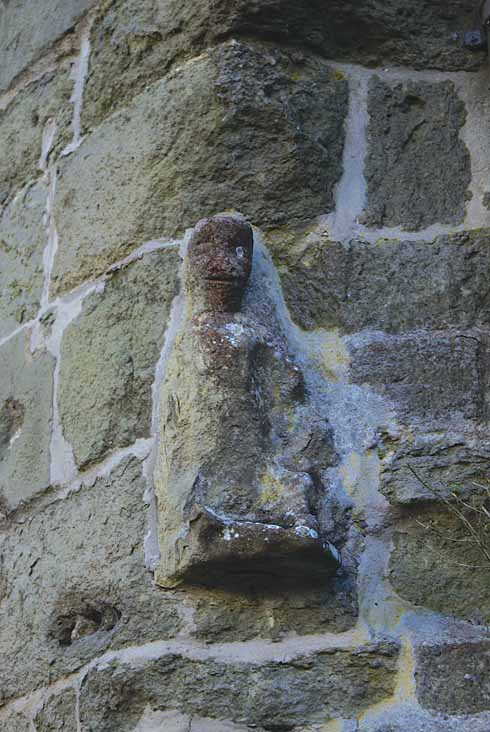 This small statue on the wall of St Peter's Church at the top of Gold Hill is just one of the many statues, finials, grotesques and general bits of masonry interest to be seen while wandering around Shaftesbury
