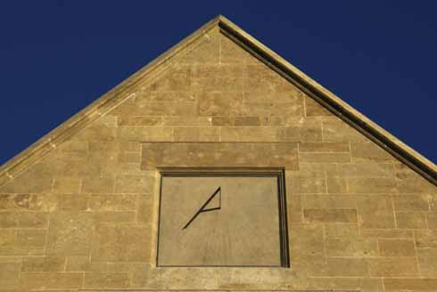 The Shaftesbury Post Office sundial: 'As accurate and useful at night as it is during the day'