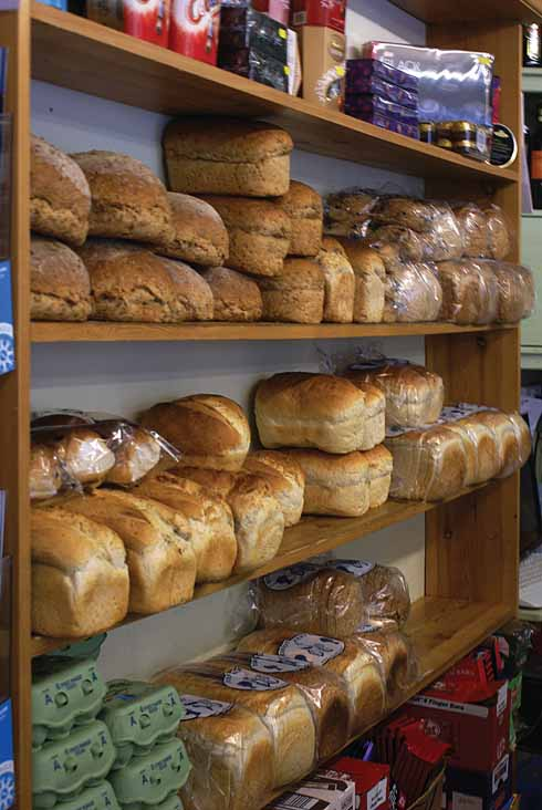 Fresh bread  is delivered from the Evershot bakery each day