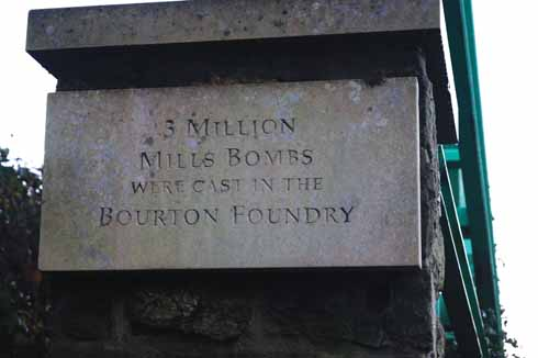 Bourton was once a centre of grenade, or Mills bomb, manufacture