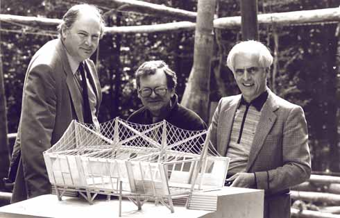 From left to right: Richard Burton, John Makepeace and Frei Otto