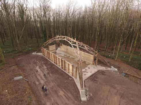 The finished Woodchip Barn skeleton