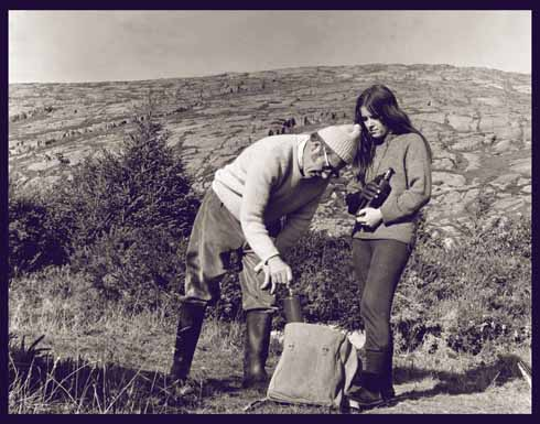 James and his daughter Christine collecting air samples in Adrigole, South-West Ireland, 1970 (Irish Examiner)