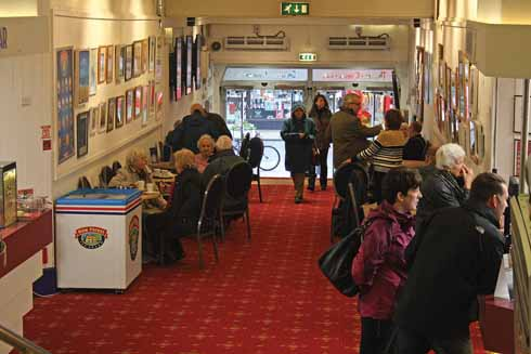 The Regent Centre foyer is not only the place to meet for a cup of coffee or tea, it is also home to a regularly changing art exhibition.