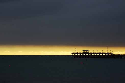 Julian Sawyer's evocative picture of Swanage pier is entitled 'Band of gold'
