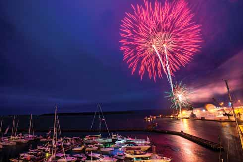 The Poole Harbour Boat Show will conclude with a spectacular firework display