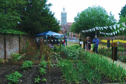The Victorian Garden's new incarnation as a potager (a traditional kitchen garden)