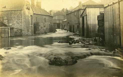 Bourton Mill suffering the effects of the flash flood that started outside the county