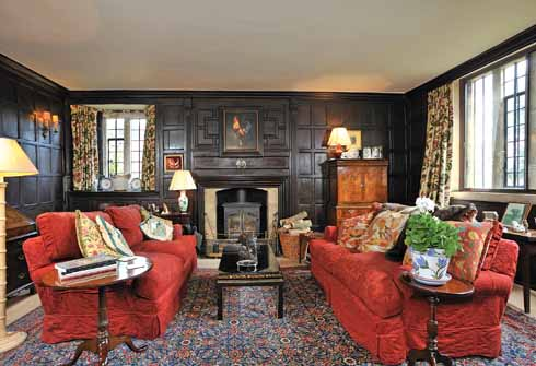 This charming small room at the north end of the Great Hall may have been a parlour in the Longs' original 15th-century house