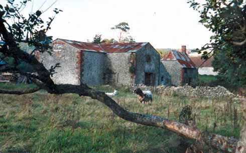 The state of disrepair into which the buildings had fallen when the DWT bought the farm